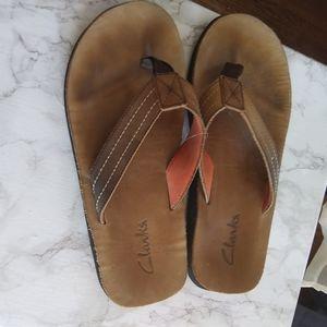 Mens Clark flip flops